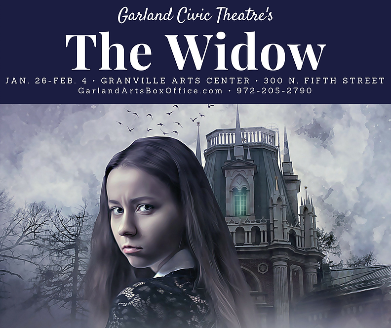 - Financing for the screen version of The Widow was affected by the banking crisis. Rather than put the story away, I rewrote it for the stage. It has been produced twice - first in Eastbourne & Croydon and, in 2018, in Garland City, Texas, USA.For more information, please contact me or StageScripts.Play reviews, here.Promo for film financing, below: