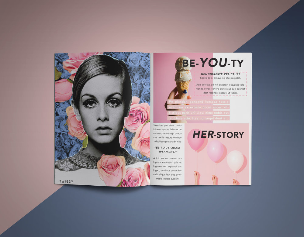 editorial - Magazine layouts for digital and print projects.