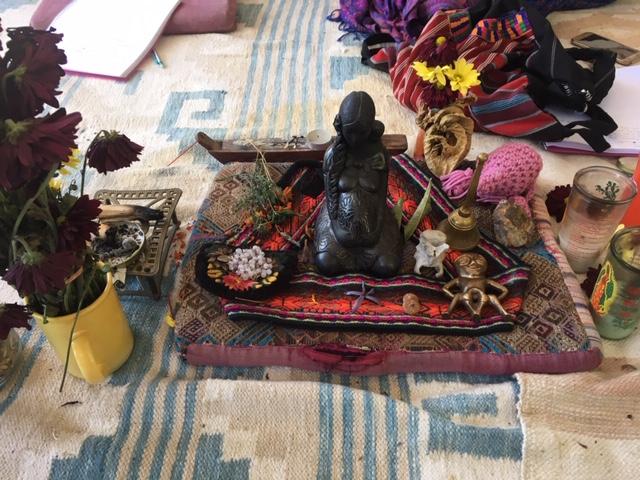 Discovering Birth Retreat November 2018 - Our Ixchel Altar