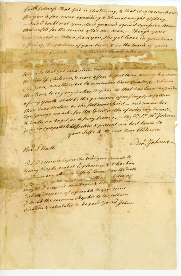 Rev. Samuel Buell Letter to Rev. Timothy Johnes, June 16, 1783, p.2