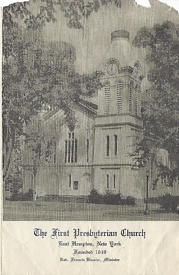 Church BulletinNovember 23, 1943 -
