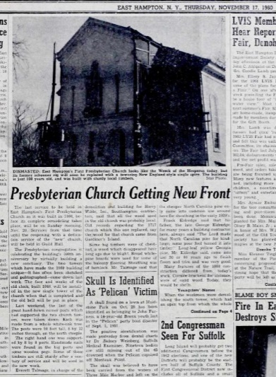 Presbyterian Church getting new Front