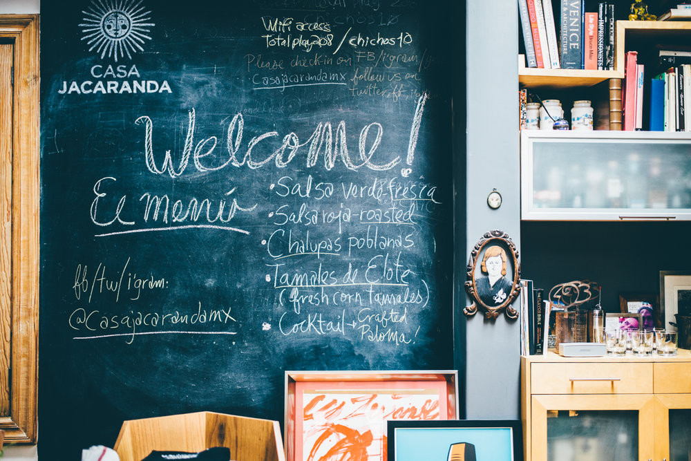 Chalk board in the kitchen