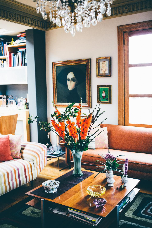 Living room interior design at Casa Jacaranda.