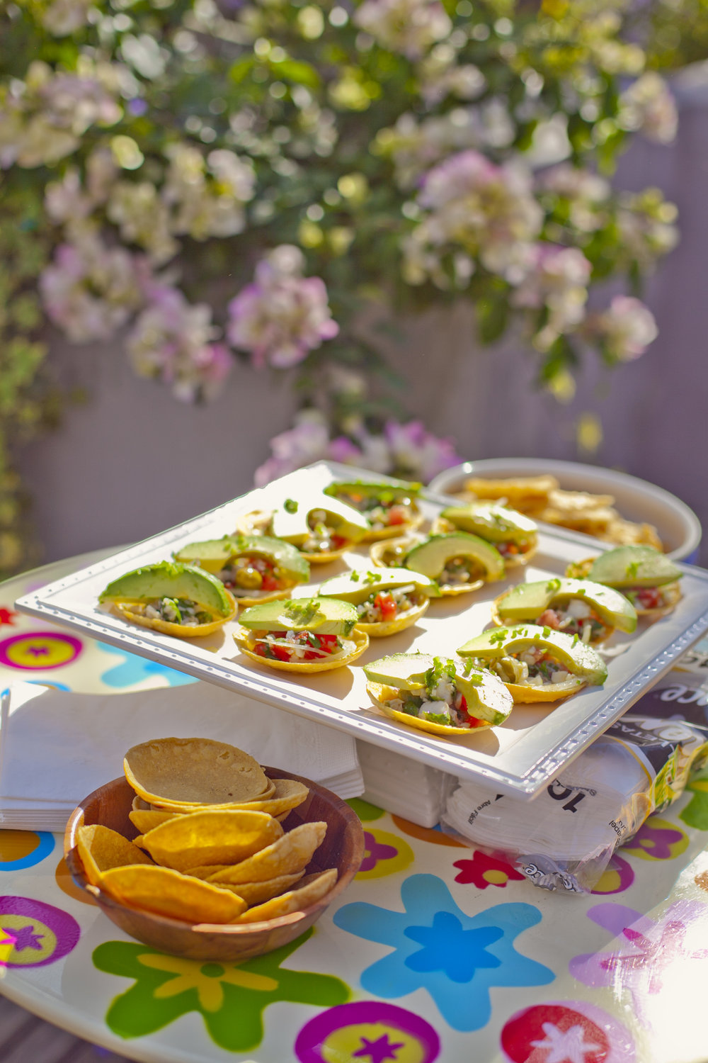 Copy of platter of Ceviche Tostadas