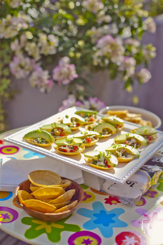platter of Ceviche Tostadas