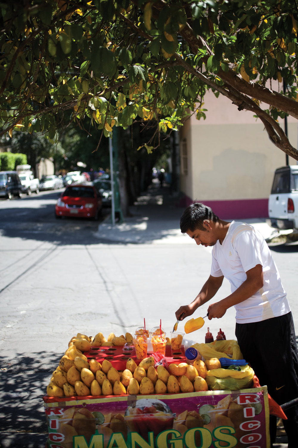 Copy of Mexico City street vendor selling mangos