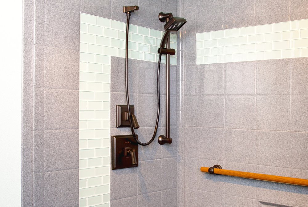 - Walk-in showers