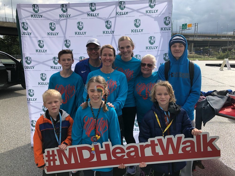 the marsh lab at the 2018 aha heart walk in baltimore