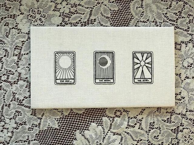 Past, Present, Future // hand embroidery on linen ✦ ✦ ✦ #embroidery #embroideryart #tarot #tinytarot #commission #tarotartist #handembroidery #witchesofinstagram #artistsoninstagram #fiberart #handstitched