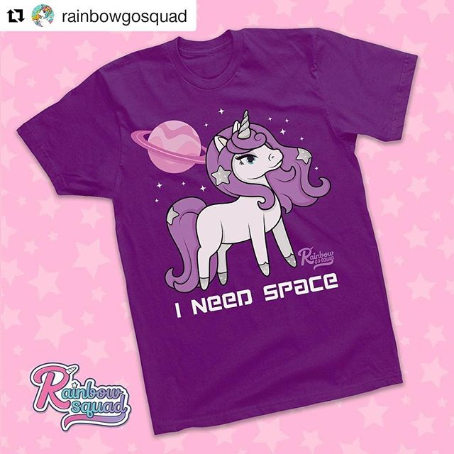 🦄✨💕 #Repost @rainbowgosquad ・・・ Exciting news our shop for Rainbow Go Squad apparel has officially launched! Be a part of the squad by repping your favorite unicorns. Link to our shop is in the bio . 🦄👚💜✨ #rainbowgosquad