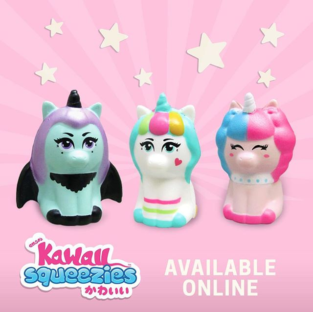 This just in our unicorns with @emzoskawaiisqueezies are officially available online! Hit the link in our bio to buy now . Use #rainbowgosquad to share with us who you got . 🌈💫☁️