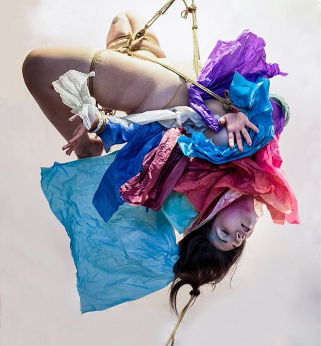 Chroma with @inoublietta ..... #rope #ropebondage #bondage #shibari #kinbaku #tied #tiedup #colour #colourful #tissuepaper #crafts #art #artproject