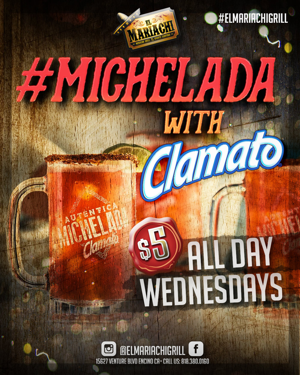 WEDNESDAYS - MichWednesdays refresh yourself every Wednesday with our signature #Micheladas, made with the freshest ingredients!