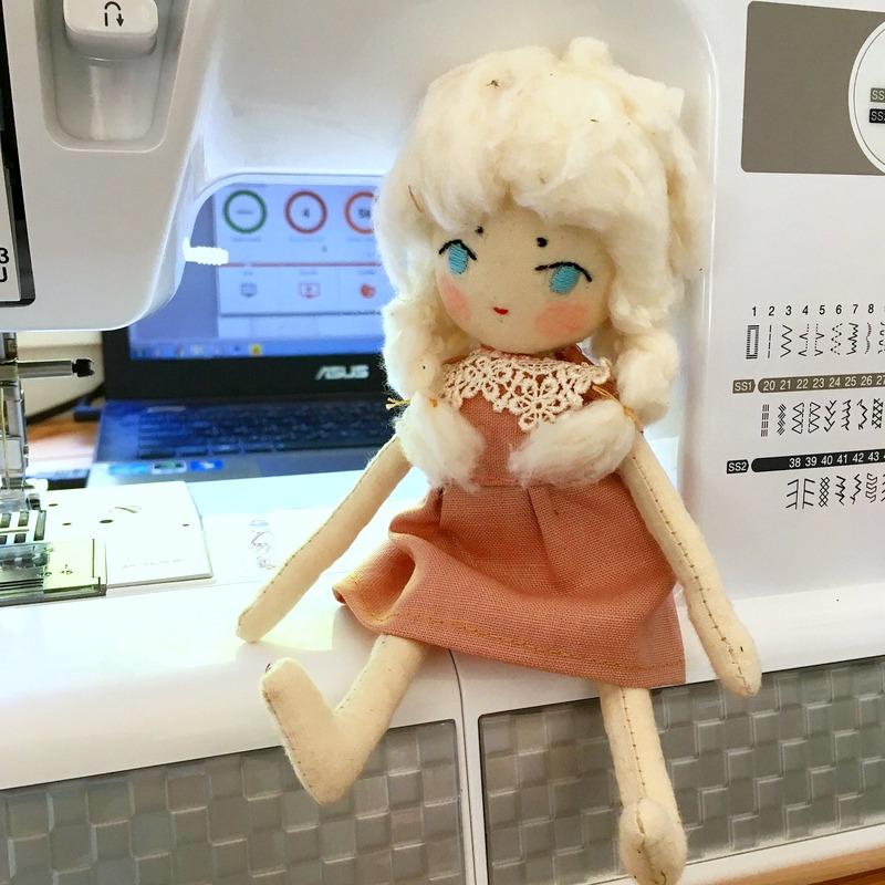 Neppie with my sewing machine