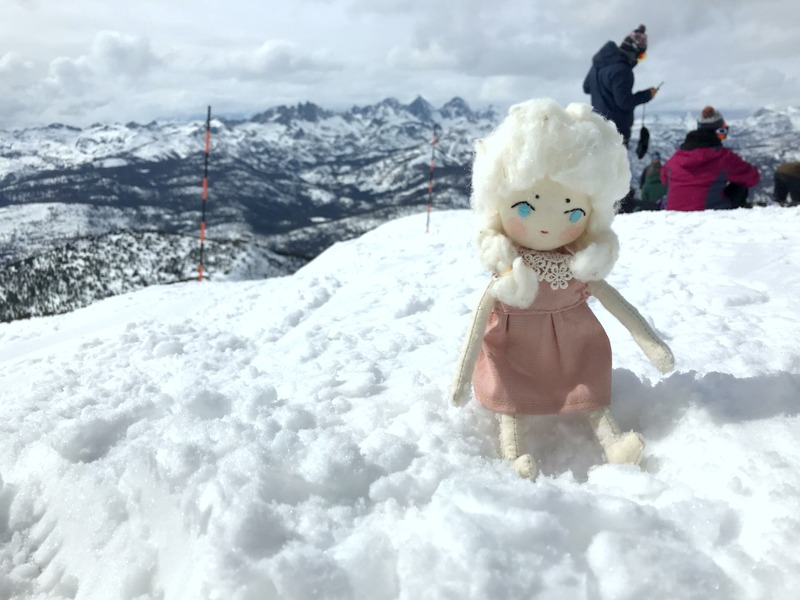 Neppie at the top of Mammoth Mountain