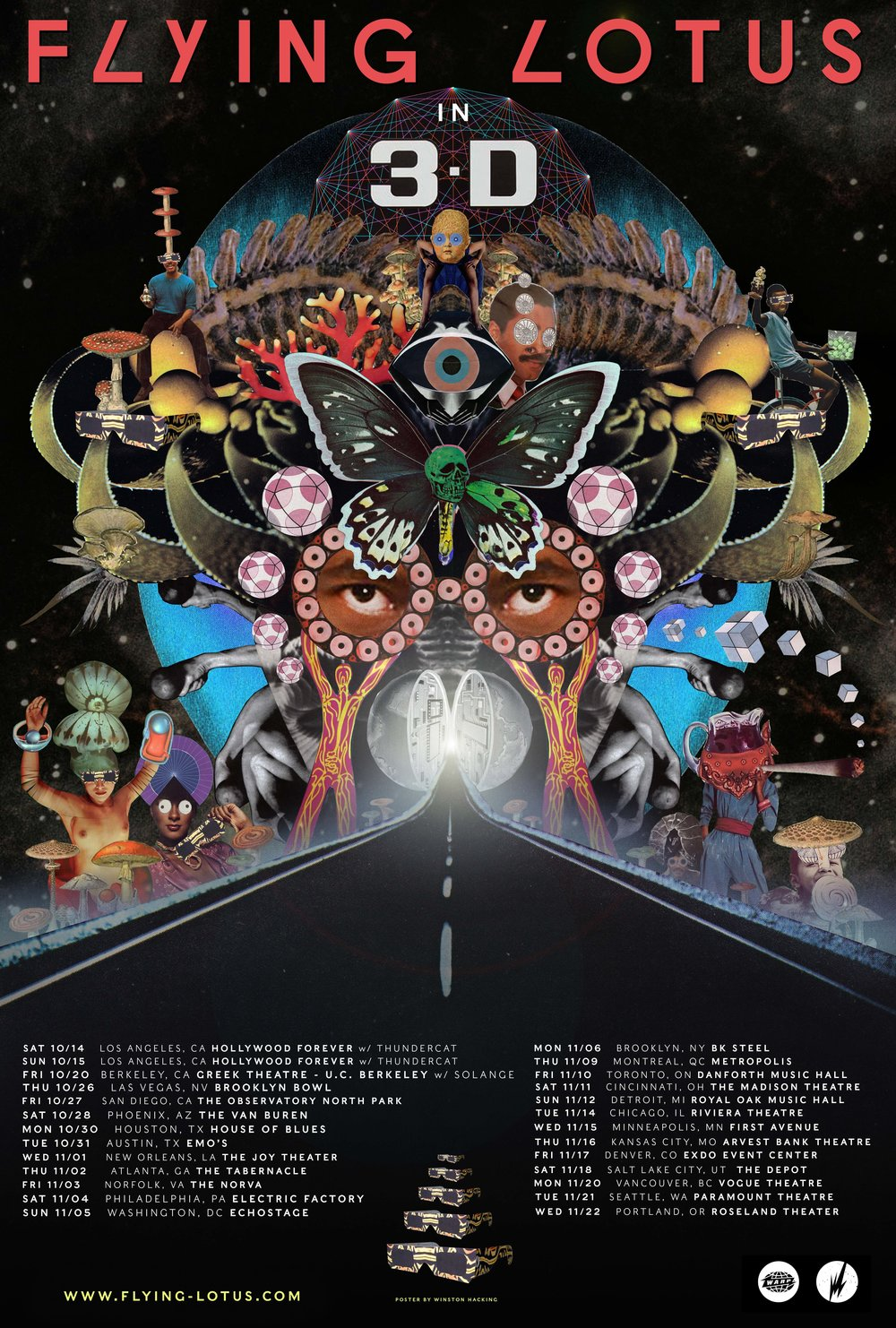FLYING LOTUS TOUR POSTER