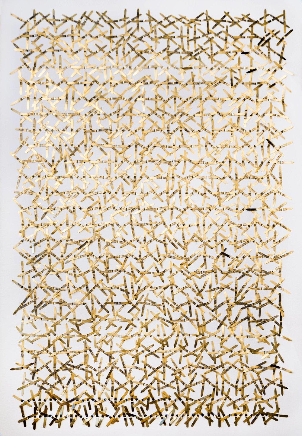 Synapses - Papier et laiton37 x 56 cm2018Pièce unique