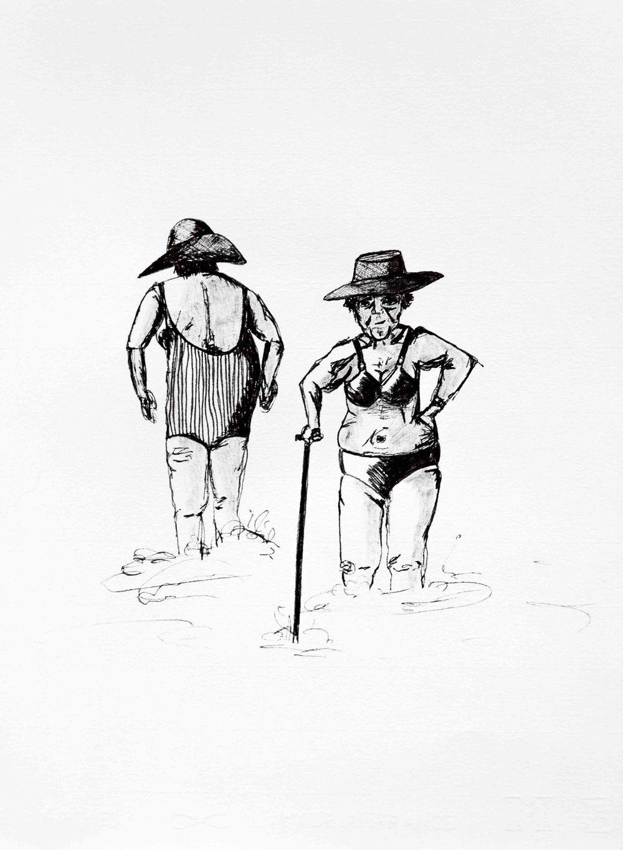 Iris et fernande - Illustration encre sur papier25 x 32 cm2018Exemplaire original