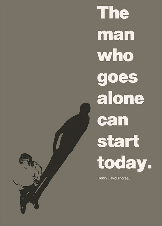 'The Man Who Goes Alone Can Start Today', 1973