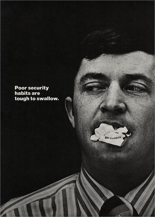 Poor Security Habits are Tough to Swallow, 1969-79