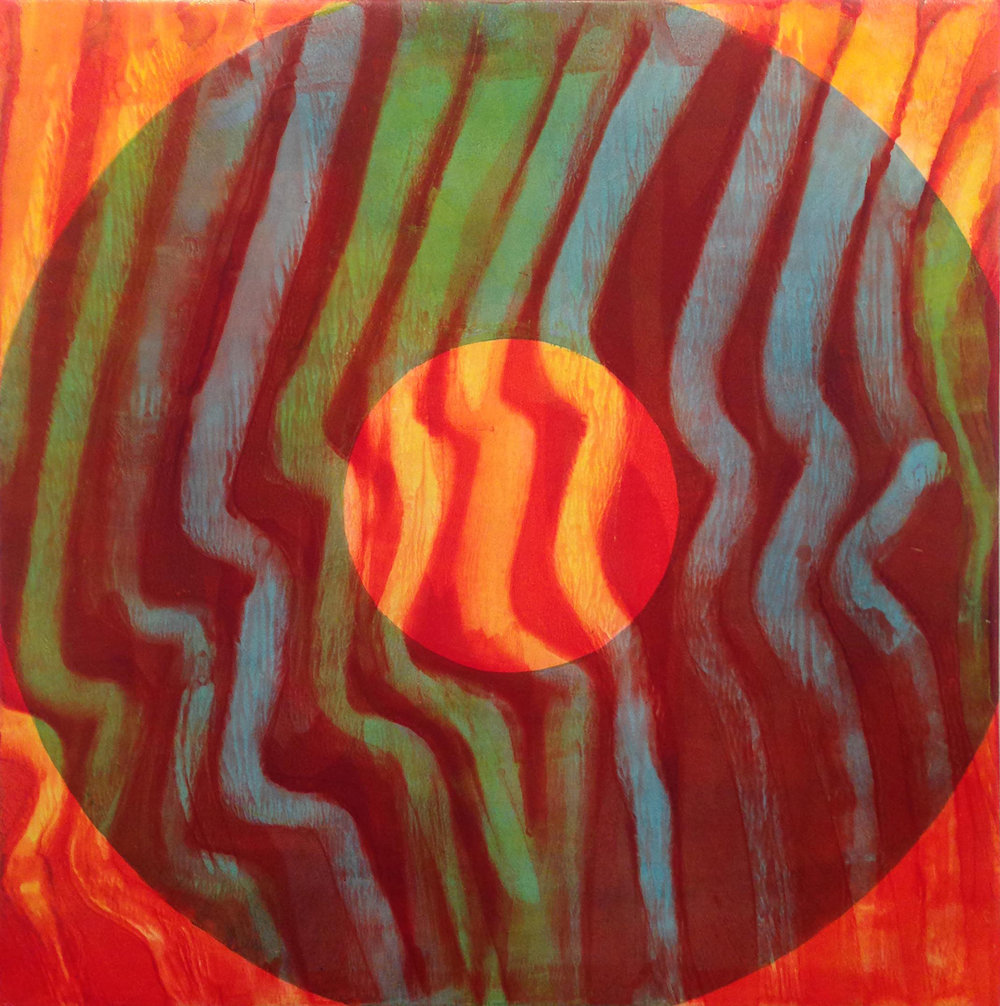 FLAME 2015 Oil on canvas 24 x 24 inches