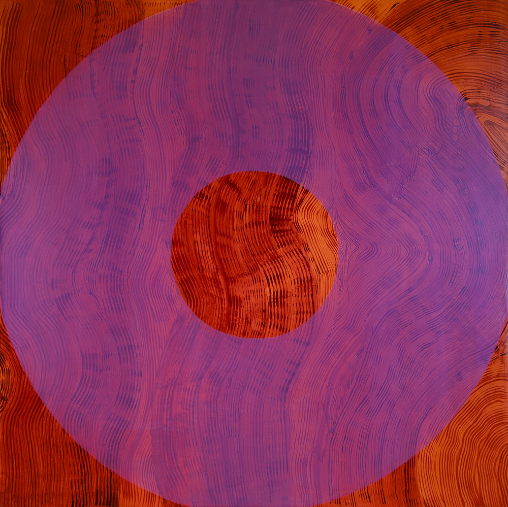IRIS 2015 Oil on canvas 77 x 77 inches