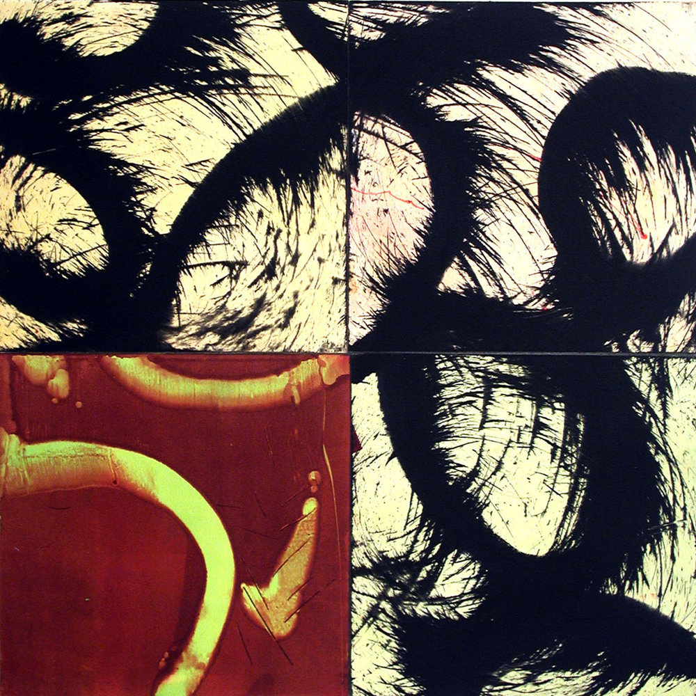 ACANTHUS QUATTRO XXI 2003 Monoprint Image size 24 x 24 inches Paper size 32 x 32 inches