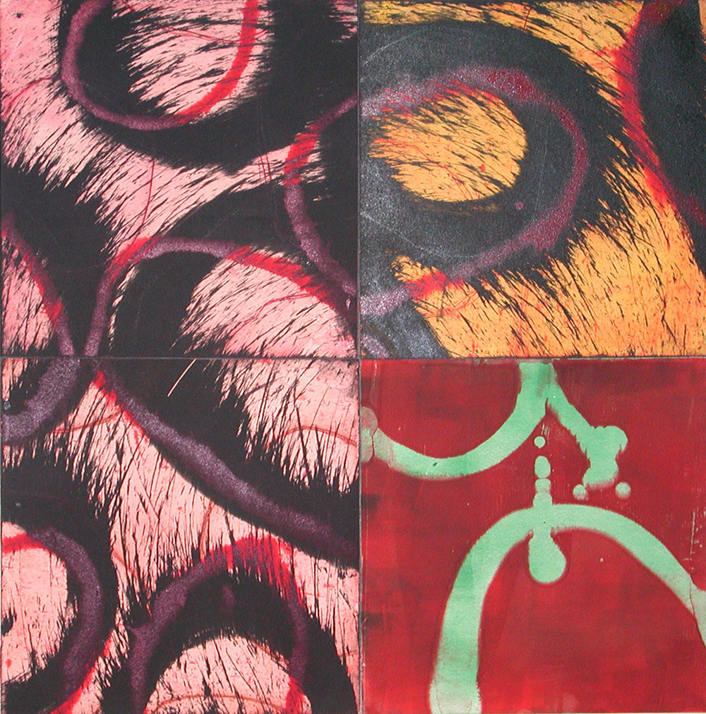 ACANTHUS QUATTRO XX 2003 Monoprint Image size 24 x 24 inches Paper size 32 x 32 inches