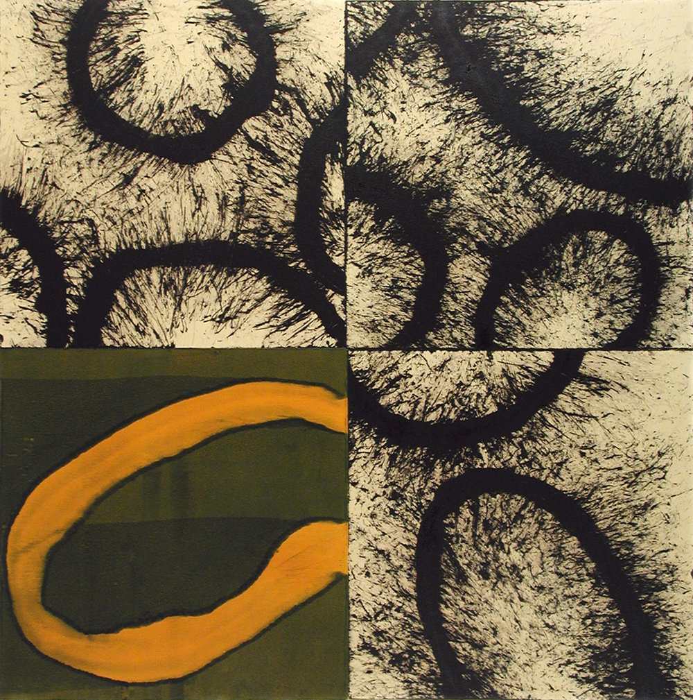ACANTHUS VI 2003 Monoprint Image size 24 x 24 inches Paper size 32 x 32 inches