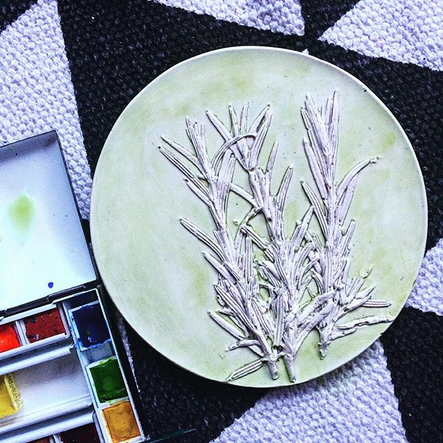 Rosemary with a watercolour wash