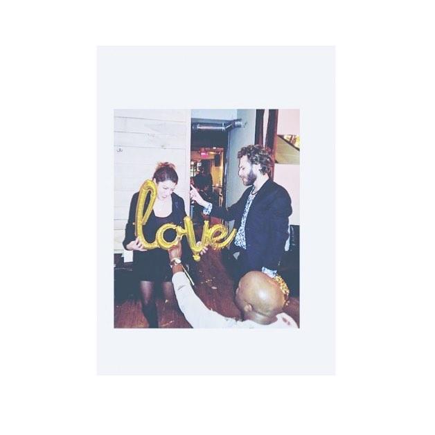 all the feels . . . . . . #nyc #newyork #eastvillage #cityvibes #placesandprose  #sassy #night #nightlife #urban #etc_zine #dreamermagazine #somewheremagazine #iphoneography #whiteborder #everydayeverywhere #party #love #friends #dancing #nyc #manhattan #yellow #balloonletters #alphabetcity
