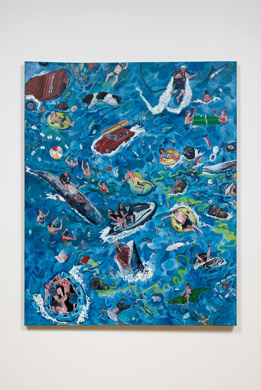 Davey Gant  Oceans of Fun, 2017 oil on canvas 48 x 60 in.
