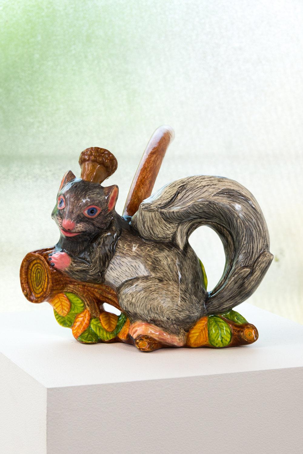 John de Fazio  Grey Squirrel Pipe , 2017 (alternate view)