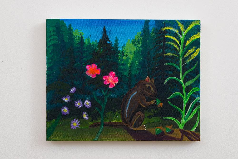 Joe Roberts  Untitled ,2017 acrylic on canvas 11 x 14 in.