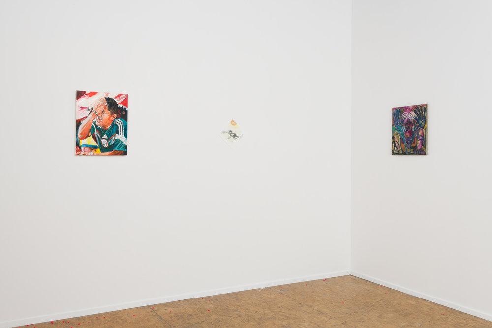 Facing  Installation View BBQLA, Los Angeles, 2017