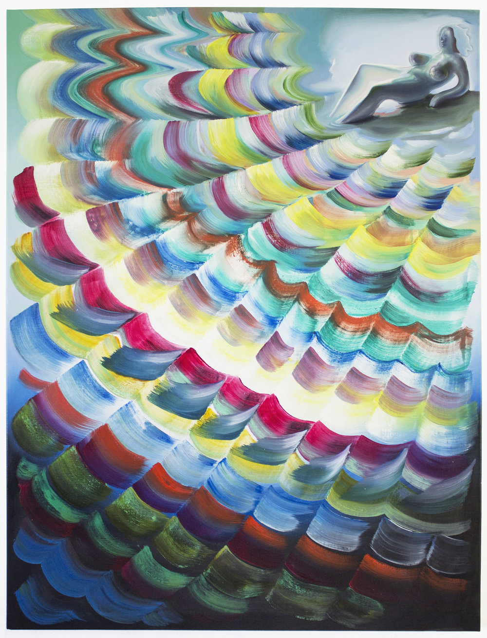 Lauren Satlowski  Wave Painting 08, 2017 oil on canvas 36 x 48 x 4 in.