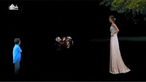 Dan Flanagan  friend part,  2012 5 minutes, 12 seconds presented by BBQLA at the LA FOCUS Microcinema (video still)