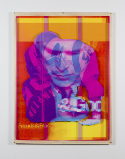 Julie Henson  Under the Headhunters,  2016 inkjet print, wood, transparency 44 x 58 ½ in.