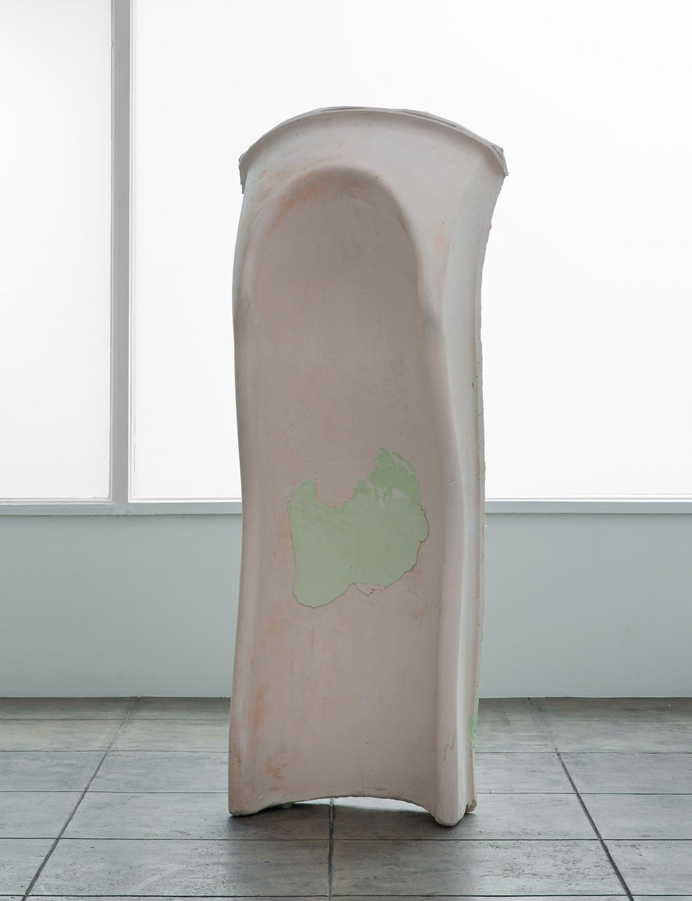 Nevine Mahmoud  slide (my tongue) , 2013 plaster, burlap, and pigment 70 x 12 x 23.5 in Image courtesy of Overduin & Co.