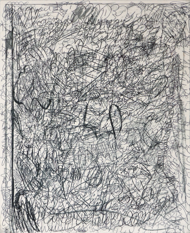 Maximus Jacobo Valentine Oppenheimer (meatgrinder)  Egodreath/nothingseen , 2018 ballpoint and printer ink on paper 10 x 8 in.