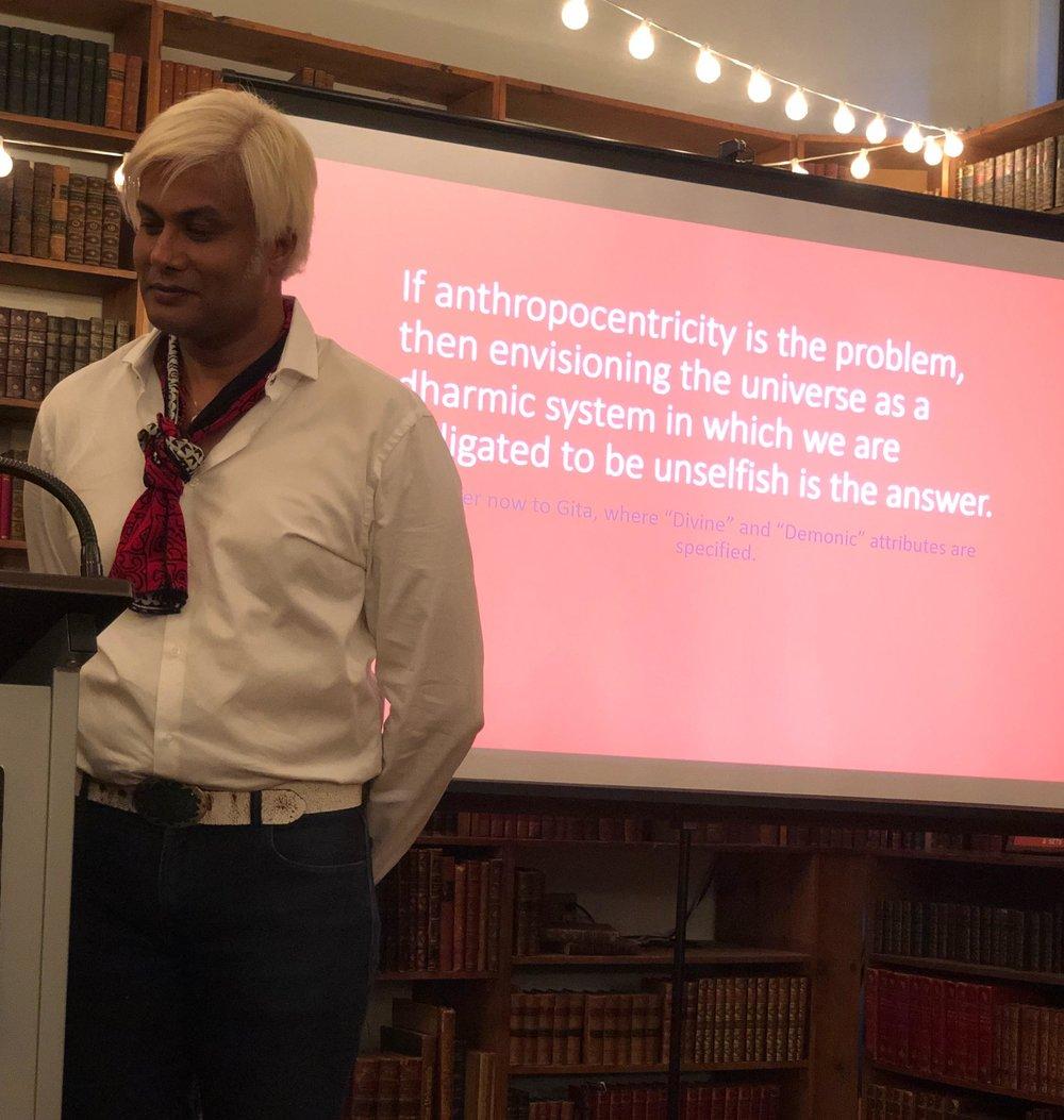 Prof Vishwa Adluri at Strand Bookstore in the talk organized by Think Olio