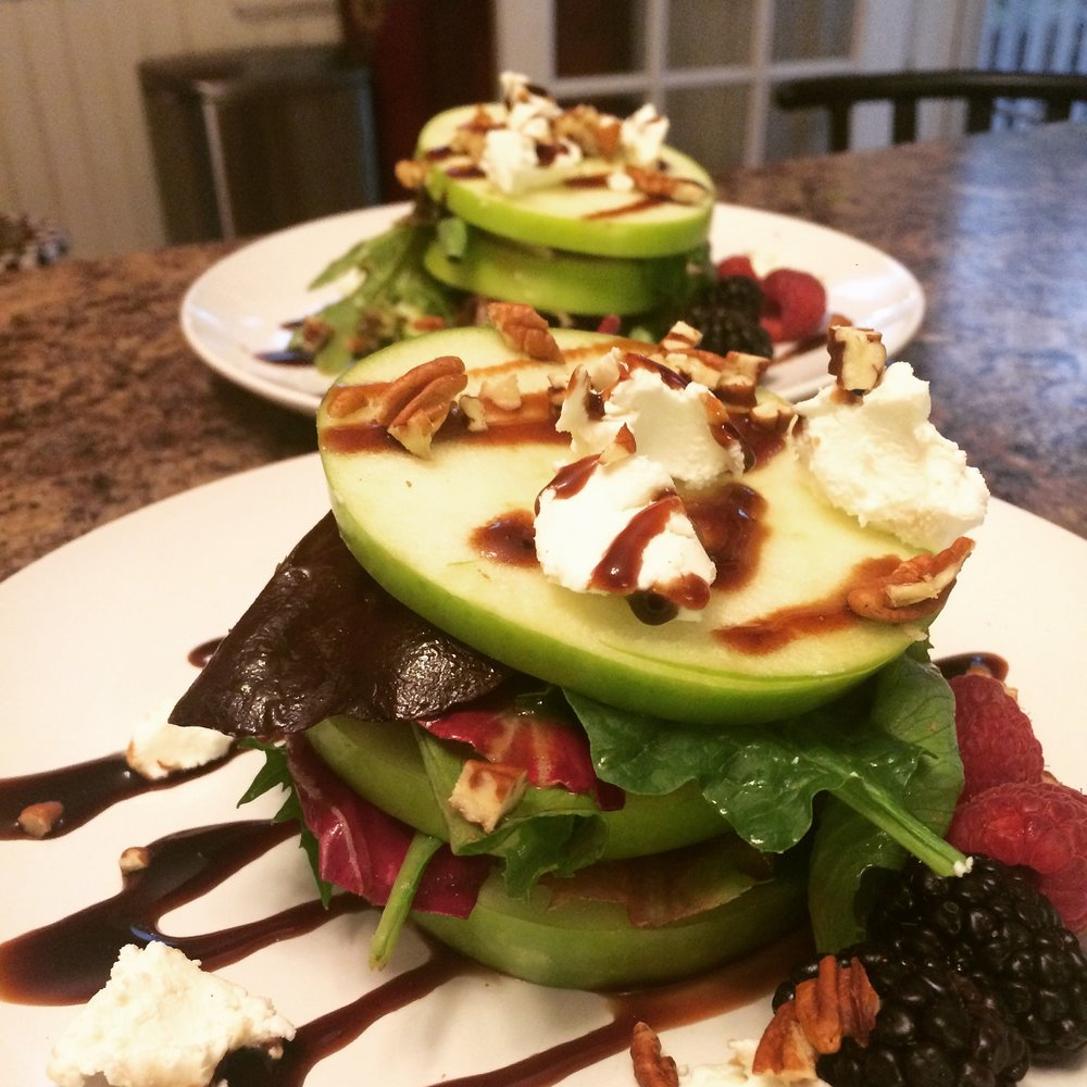Stacked Apple and Goat Cheese Salad