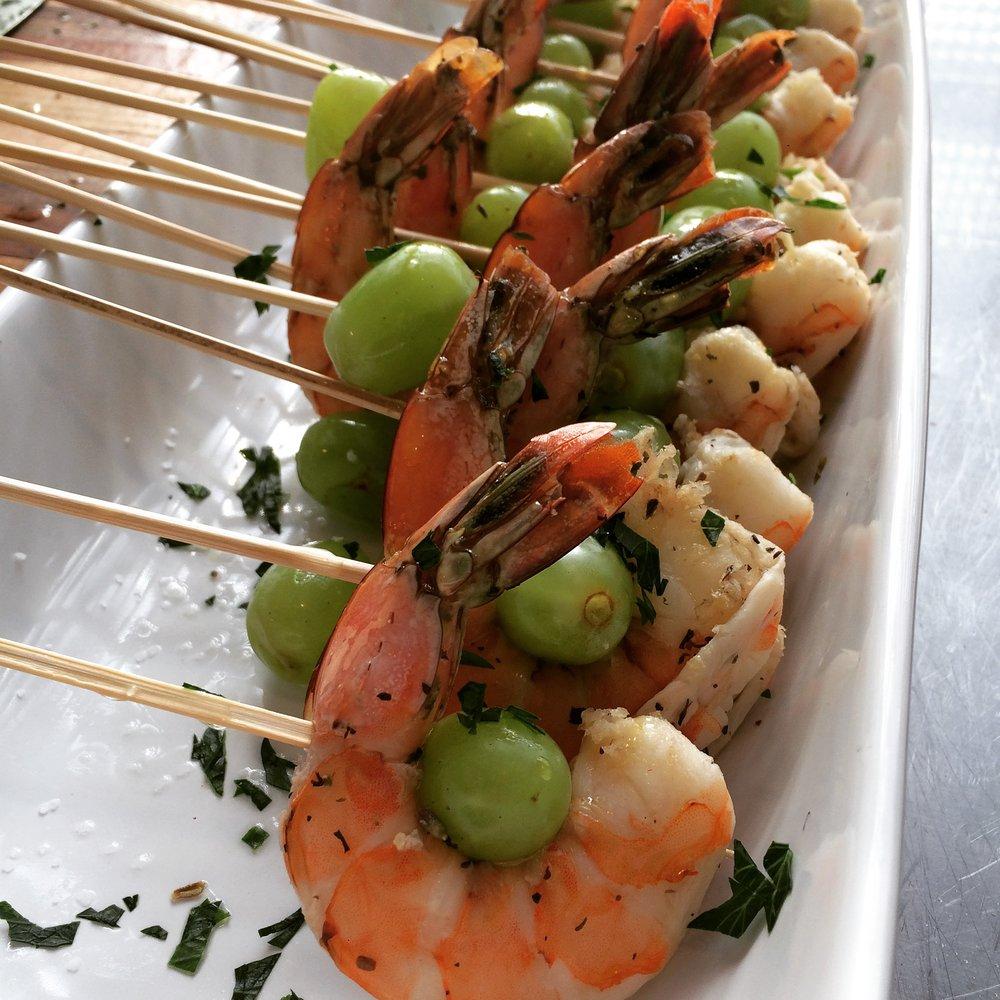 Shrimp and Drunken Grapes