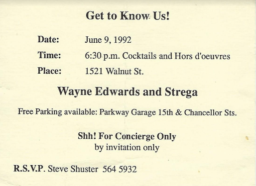 1992 Event invitation