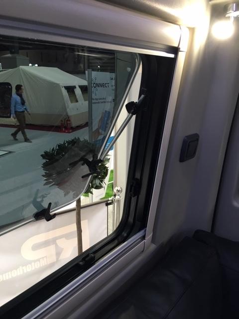 Rear side double glazed, open out windows