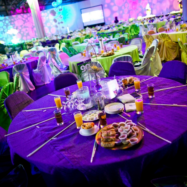 Colourful Table Decor and Menu For Brunch By CEO Events, Edmonton