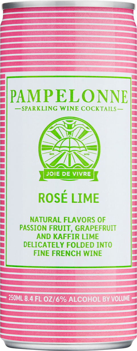 "<p id=""r75"">Rosé Lime</p>Natural flavors of passion fruit, grapefruit and kaffir lime delicately folded into fine french wine"