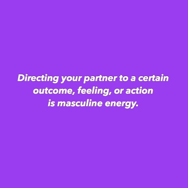 ✧ If you are *trying* to move your partner in a specific direction...whether that is to do something, to feel a certain way about you, or to change something in themselves, you are embodying your masculine energy. ✧ And when we use our masculine energy with our masculine energy partner, we get repelling, NOPE, energy as a result. ✧ To get what we want we have to allow it in. Maybe the first step is being in integrity and stating what we want - but then we lean back into our feminine energy. Refocusing on ourselves and our happiness. Being in a feminine state of receiving (instead of being in masculine state of asking/demanding) and embodying the energy we are requesting. ✧ Making the request, wanting something to be different or change, is totally acceptable. But as women we often forget that we can make the request but it's not up to us to direct our partners to the outcome we want. I mean...well, we CAN lol...but this isn't something supportive or sustainable for attraction. We have to take responsibility for the energy we then bring to the situation after we've identified what we want. Will we embody our feminine? Or will we stay in our masculine? 💜💜💜 ps welcome to 2019's color 💜💜💜