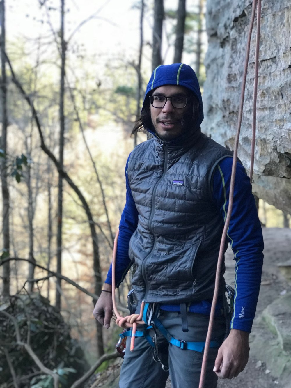 Nick climbing in the Red River Gorge, KY